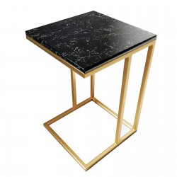"Столик из камня ""кварц Gold"""